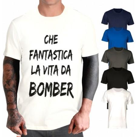T-shirt Che fantastica la vita da Bomber - Bobo Vieri style