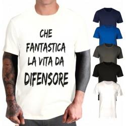 T-shirt Che fantastica la vita da portiere - Bomber bobo style
