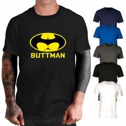 Maglietta Buttman super eroe Batman. Simpatica e divertente. Colore nero.