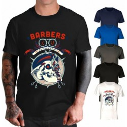 T-shirt Skull Barber fashion