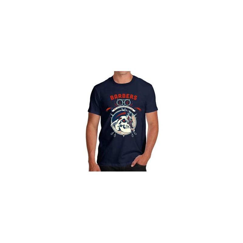 T-shirt Skull Barber fashion