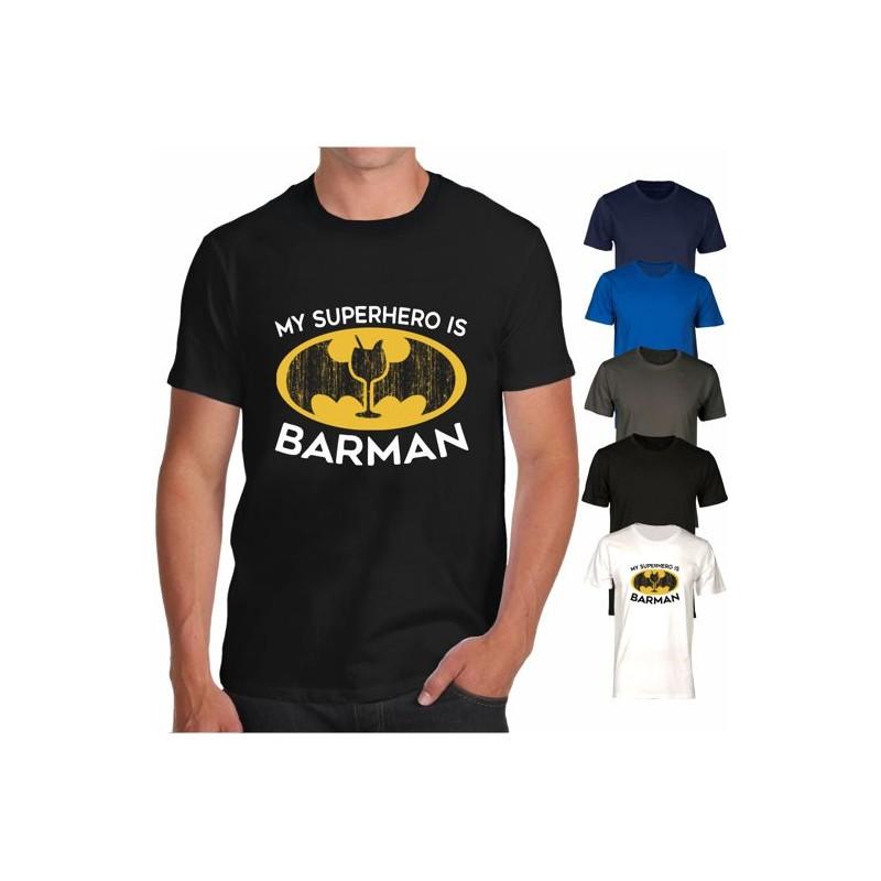 Maglietta Barman supereroe