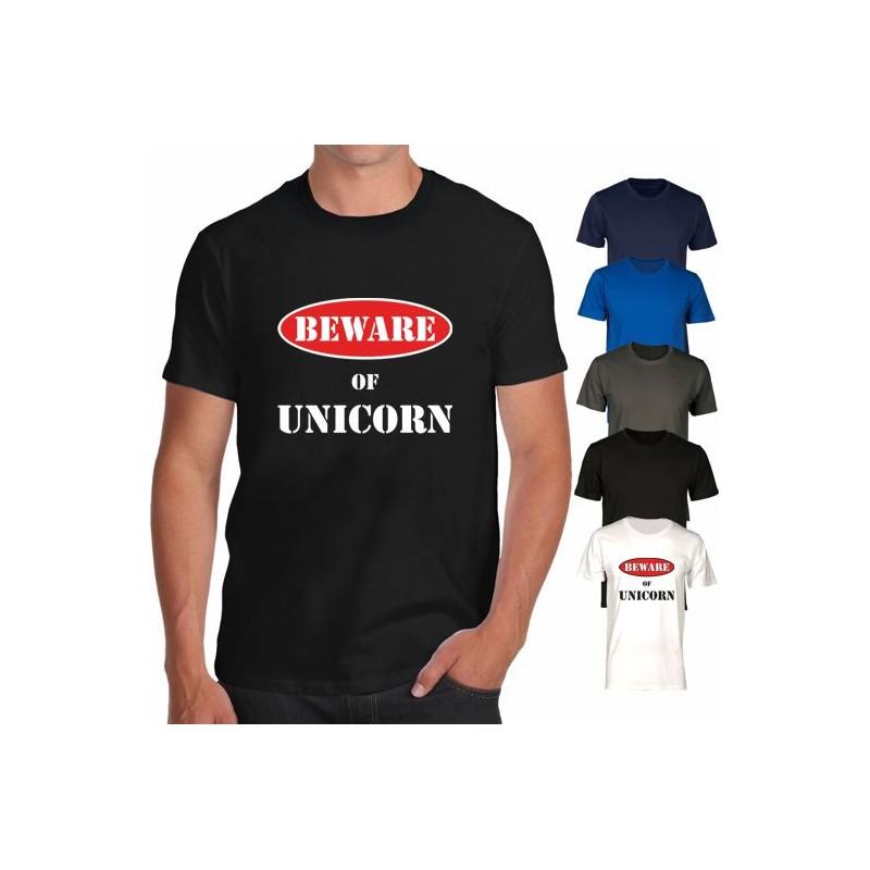 Maglietta Beware of Unicorn - Io amo gli unicorni