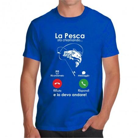T-shirt La pesca sta chiamando