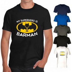 T-shirt barman superhero -...